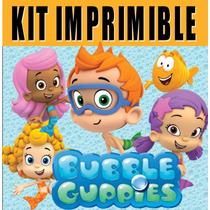 Kit Imprimible Bubble Guppies - Decoraciones Cajitas Fiesta
