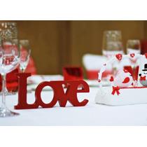 Letreros Love Mdf Decora Boda Despedida Recuerdo Letras Amor