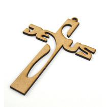 Cruz Jesus En Mdf 3mm 15cm Para Bautizo, Primera Comunion