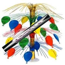 Centro De Mesa Globos Multicolor