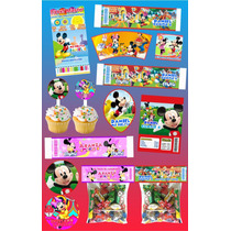 Kit Imprimible Mickey Mouse Personalizado 30 Etiquetas
