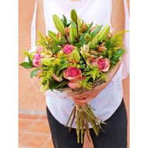 Ramo De Flores Mixtas Lillies Rosas A Domicilio