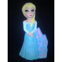 Princesa Elsa Con Castillo 12 Pzas. Centros Mesa Alcancias