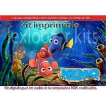 Kit Imprimible Buscando A Nemo Y Sus Amigos Memo