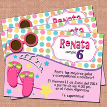 Invitaciones Princesas-fiesta Princesas-niñas-princess Party