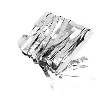 Oropel Cortina - Silver 3ft De Navidad Del Partido De Navida