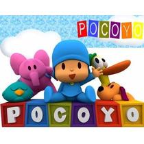Kit Imprimible Pocoyo, Invitaciones Y Cajitas