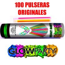 100 Pulseras De Cyalume Glowparty® Pulseras Luminosas Neon