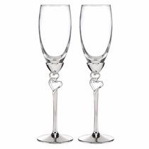 Copas Corazon Champagne Boda Matrimonio Set 2
