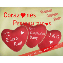 Corazón Cojin Peluche Regalo Cumpleaños Personalizado
