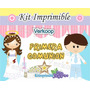 Kit Imprimible Primera Comunion Niña Y Niño Souvenirs Nene