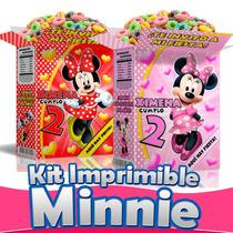 Minnie Mouse Mimi Kit Imprimible Todo Para Fiesta Nuevo 2015