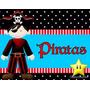 Invitaciones De Piratas Diseña Tarjetas Cumpleaños