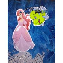 12 Invitacion Con Cadenita Princesa Ariel Sirenita