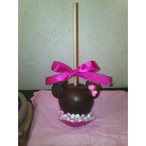 Manzanas Cubiertas De Chocolate Turin Decoradas Minnie Mouse