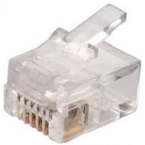 Conector Plug Rj11 Telefónico, Cámaras, Seguridad, Voz, Dato