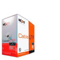 Cable Utp Cat5e,bobina Azul 305m,cobre Pulido,alta Velocidad