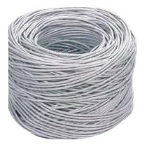 Bobina De Cable Utp Cat 5e. 305m Blanca 0.40mm 8hilo Rj45