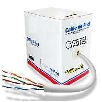 Bobina De Cable Utp Para Red Nivel 5 Con 305 Mts