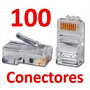 Conector Plug De Red Rj45 Para Cable Utp Cat 5 100 Piezas