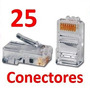 Conector Plug De Red Rj45 Para Cable Utp Cat 5 25 Piezas