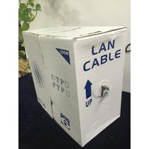 Bobina De Cable Para Red Utp Rj45 305m Cat6 Gris 0.50mm Zw6
