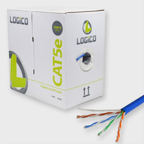 Bobina Cable De Red Utp Rj45 Cat5e Azul 305 Metros