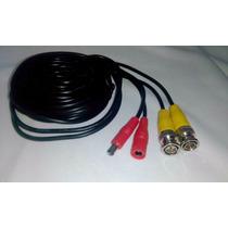 Cable Siames C/conectores Bnc Hembra A Macho Cctv 10 Mts F25