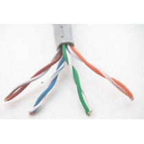 Cable De Red Utp Cat 5e Color Gris 100 Mts