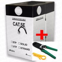 Bobina Cable De Red Utp 305m Cat5e Rj45 Ethernet + Pinzas