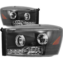 Faros Ojo De Angel Y Led Dodge Ram 2006