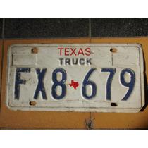 Placa Usada Del Estado De Texas Usada Para Adorno Usa