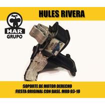 Soporte De Motor Derecho Fiesta Original Con Base. Mod 03-10