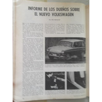 Square Back Tipo 3 Volkswagen Revista Mecanica Popular 60s
