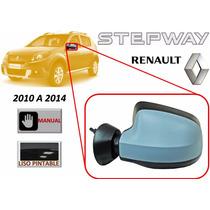 10-14 Renault Stepway Espejo Lateral Manual Liso Izquierdo