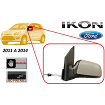 11-14 Ford Ikon Espejo Lateral Manual Liso Lado Izquierdo