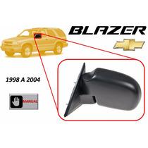 98-04 Chevrolet Blazer Espejo Lateral Manual Lado Izquierdo