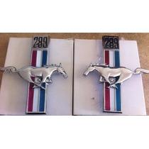 Par Emblema Salpicadera Ford Mustang 67 68 289