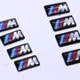 Juego De 4 Emblemas Bmw ///m Para Rines Tablero Y Volante