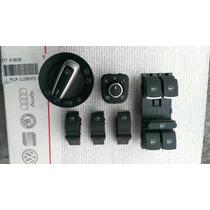 Kit Botones Aluminio Vidrios Lunas Euroswitch Bora Tiguan Vw