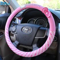 Hello Kitty Lindo Cubrevolante Rosa Para Auto Sanrio 100%