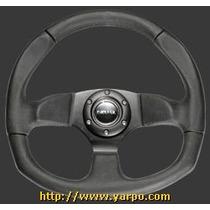 Volante Para Carro De Gamuza 320mm Color Acero