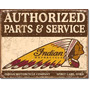 Poster Metalico Litografia Indian Parts And Service Cartel A