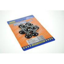 Amarre Botones - 10x Cubierta Remolque Negro Plástico