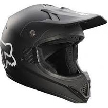 Casco Fox Vf-1 Negro Mate 2015 Moto !! Talla S