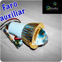 Faro Auxiliar Para Motocicleta Universal 5watts Led