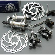 Kit Frenos De Disco Bicicleta Montaña De Aluminio No Shimano
