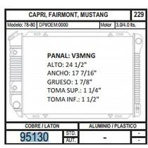Radiador 95130 Capri / Fairmont / Mustang 78-80 3.0 / 4.0