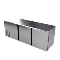 Asber Abbc-94-s Refrigerador Contrabarra 3 Puertas Solidas