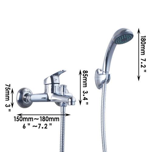 Regadera De Baño Moderna:Regadera Moderna Para Baño Con Extension Tipo Telefono – $ 1,99000